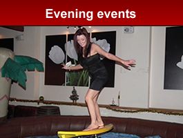 Evening events and Evening team building