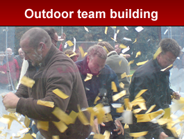 Outdoor team building from DW Team Building